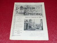 [REVUE EXPOSITION UNIVERSELLE 1900] LE MONITEUR DE 1900 N° 69 #  JANVIER 1900