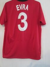 Manchester United Man Utd 2009-2010 Home  Evra 3 Football Shirt Large /43514