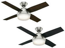 Ceiling Fan With Lamp and Remote Control Hunter Dante 112 CM Brushed Chrome