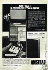Publicité advertising 1983 La Chaine Hi-Fi Amstrad