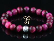 Tigerauge 925er sterling Silber Armband Damen Bracelet Perlenarmband pink