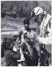 Edmund Hillary - Historic Mount Everest Climber - Autographed 11x14 Photograph