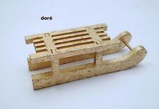 luge en bois,miniature maison de poupée,vitrine,jouet, sport d'hiver OR Gtp18