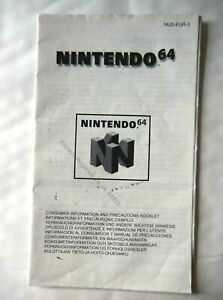 61333 Instruction Booklet - Consumer Information And Precaution Booklet - Ninten