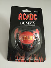 Brand New Sealed Official AC/DC Merchandise Silicone Baby Dummy 6 Months +
