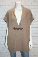 MAGGIE T Brand Brown Wool Sleeveless Over Jumper Size 0-1 LIKE NEW #AN02