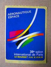 AUTOCOLLANT STICKER AUFKLEBER PARIS AIR SHOW 1989 SALON AERONAUTIQUE LE BOURGET