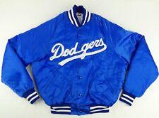 Vintage Don Alleson Athletic MLB Los Angels Dodgers ButtonUp Satin Jacket Size M