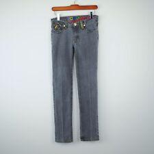Coogi Australia Girls Jeans Sz 11/12 Gray Skinny Leg Stretch Embroidered Pocket