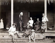 1892 Photo - Photograph of Robert Louis Stevenson & Family on an Island in Samoa