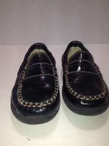 Boys Primigi Sky-Effect System Black Patent Leather Loafer Slip On EUR 29