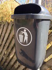 Outdoor Lockable 50Litre Capacity General Waste Bin Post Mountable Litter Bin