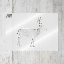 Deer Reusable Wall Stencil for Home Decor -Scandi Style - Stencil Walls 10061