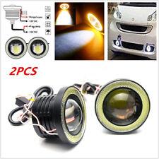 "2PCS 3"" LED Projector Fog Light Round Amber Angel Eye Halo 4X4 Trucks 12V 3200LM"