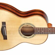 Teton STP180NT Parlor Guitar ONLY, Solid Spruce Top, Ebony B&S, Gloss Finish