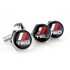 NEW 4PCS Car License Plate Frame Security Screw Bolt Caps Covers fits for TRD