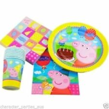 Peppa Pig Party Supplies – Pack for 16 Persons – FREE STANDARD  SHIPPING IN AUS