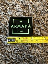 """Armada Sq. Sticker Black/green Decal Skis Skiing Boots Jacket 110102 Approx 2"""""""