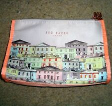 TED BAKER Make Up & Accessorise Bag Case Travel Brush Zip Purse London Dogs Brus