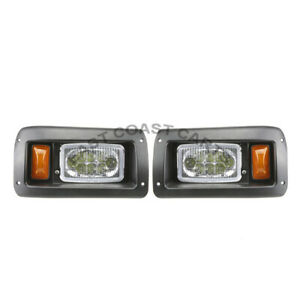 Club Car DS Golf Cart LED HEADLIGHT 2 LED Headlights Pair