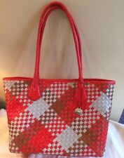 Brahmin Woven Handbag, New, Never Used, Orange Taupe & Brown Weave