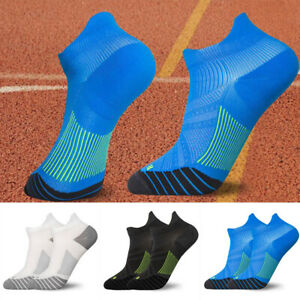 1Pair Mens Low Cut Sports Breathable Ankle Gym Running Cushioned Active Socks