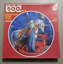 "Vintage 1989 American Publishing 500 PC Round Puzzle/Susan Dawe/""Storm Chaser"""