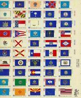 SCOTT 1633-82 BICENTENNIAL STATE FLAGS 13ct 50 STAMP SHEET