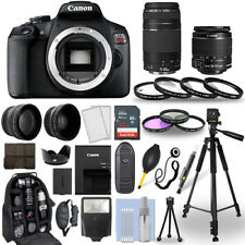 Canon EOS Rebel T7 SLR Camera + 18-55mm IS + 75-300mm+ 30 Piece Accessory Bundle