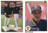 Barry Bonds Lot of 2 different Upper Deck Pittsburgh Pirates Baseball Cards