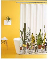 Room Essentials Plants Shower Curtain Cactus Restful Green Farmhouse Succulent
