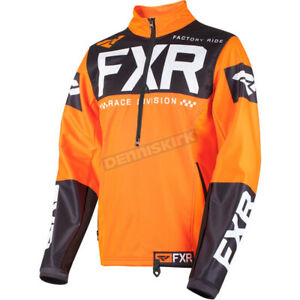 FXR Racing Orange/Black/White Cold Cross Pullover Jacket - 191117-3010-16 XL