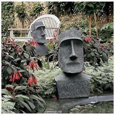 Large Easter Island Moai Monolith Garden Polynesian Pacific Sculpture