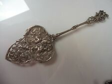 Very Beautiful old Cake Lifter, Sterling Silver, Figural Decorations