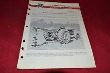 Massey Ferguson 1 Post Hole Digger Product Information Dealer's Brochure SMPA