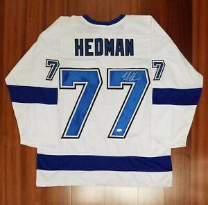 Victor Hedman Signed Autographed Jersey Tampa Bay Lightning JSA