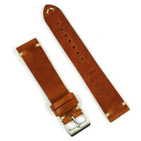 B & R Bands 22mm Cognac Italian Classic Vintage Leather Watch Band Strap