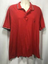 Nautica xlarge red polo golf shirt mens short sleeve
