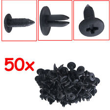 Lot50 Auto Car Door Fender 6mm Hole Push Plastic Rivets Retainer Clips Black New