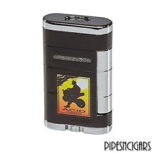 XIKAR Allume ACID Double Dual Jet Torch Cigar Lighter Black - 533AD Drew Estate
