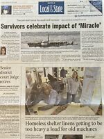 Miracle on the Hudson US Airways Flight 1549 January 15 2010 Newspaper
