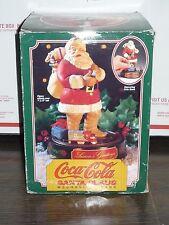 Coke Coca Cola Santa Claus Mechanical Train Bank 1993 Ertl Metal 1st in Series 1