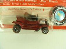 Hot Wheels 1968 Hot Heap Orange HK Redline on Blister Card