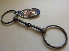"Weaver Horse Mi 5"" Snaffle Bit, 3"" Steel Rings, Equestrian, New"
