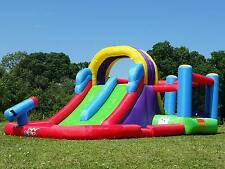 BeBop Total Wipeout Bouncy Castle Inflatable Water Slide Combo With Electric Fan
