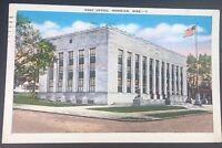 Vintage Postcard Post Office Meridian Mississippi Postmark 1940 C23