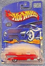 2001 Hot Wheels Collector No #052 First Editions #32/36 '57 ROADSTER Red w/5 Sp