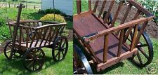 Large Wooden Goat Wagon with Rustic Brown Stain Amish-made in USA