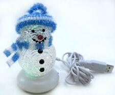"7 Color Led Usb 5"" Snowman Christmas X'mas Ornament gift"