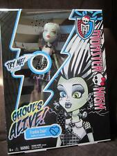 Monster High Doll Lights up electrical volt sounds Frankie Stein skeleton glows